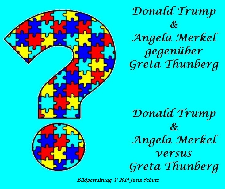 Trump und Merkel gegenüber Thunberg