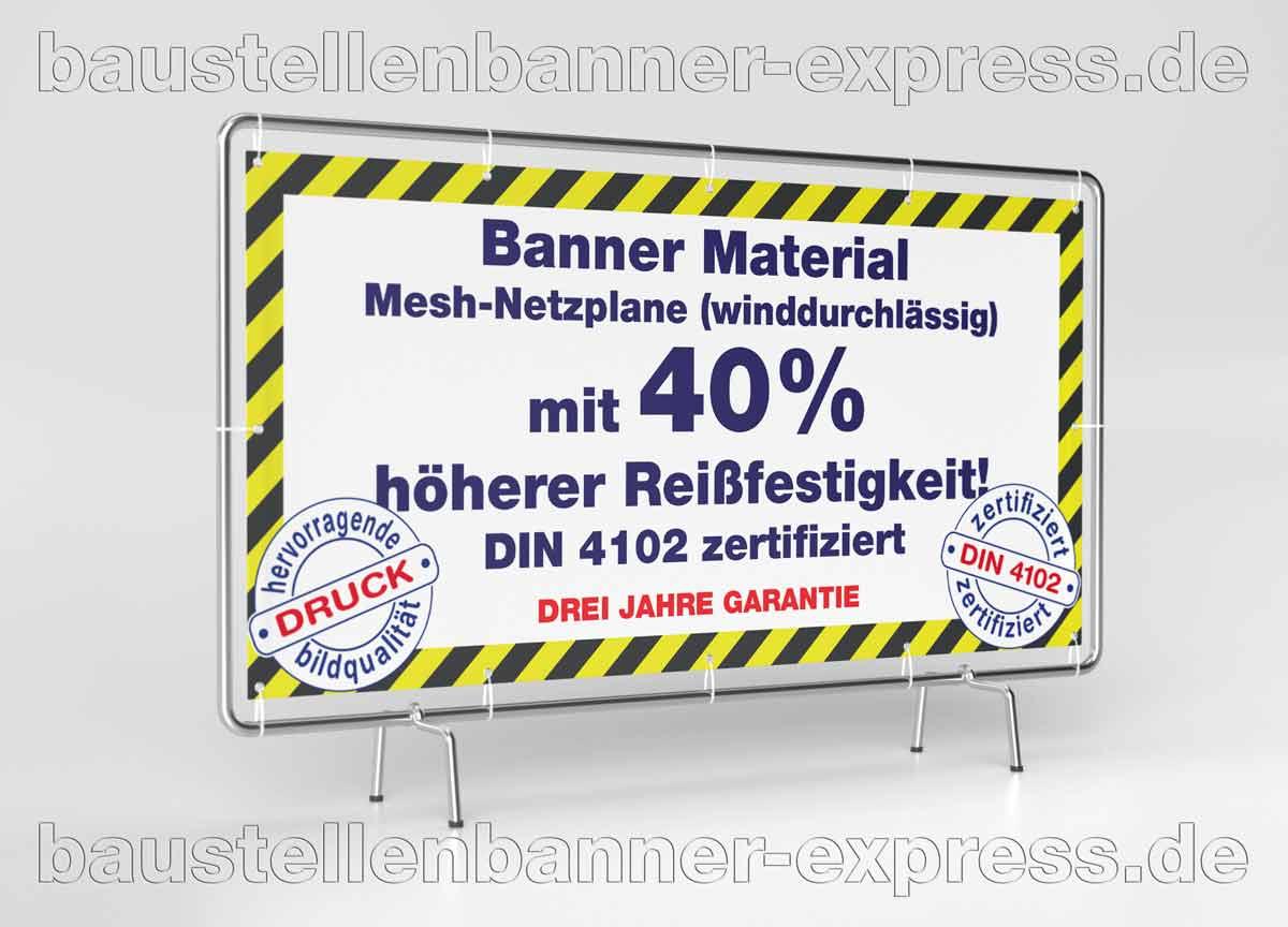 Robuste Baustellen Banner für Bauzaun Werbung