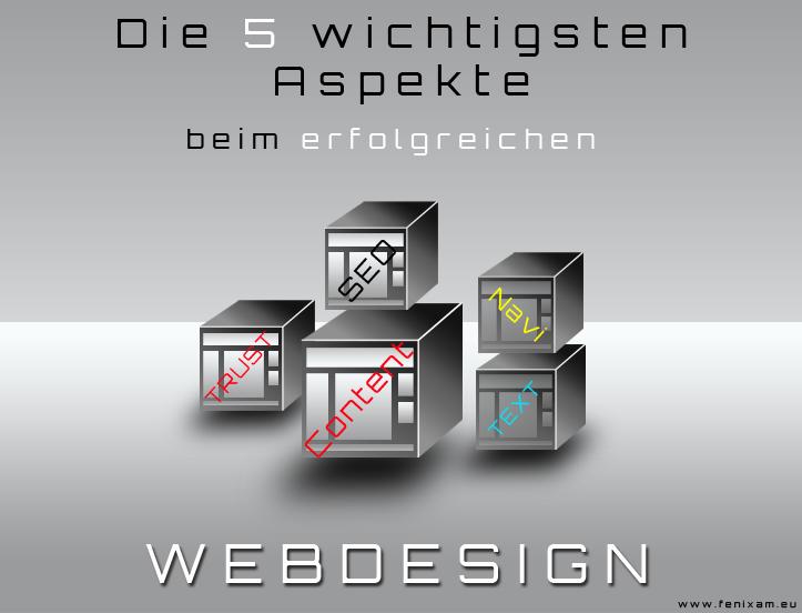 Die fünf wichtigsten Aspekte bei einem erfolgreichen Webdesign
