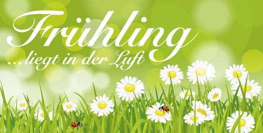 Der Frühling ist die Zeit für Werbeaktionen