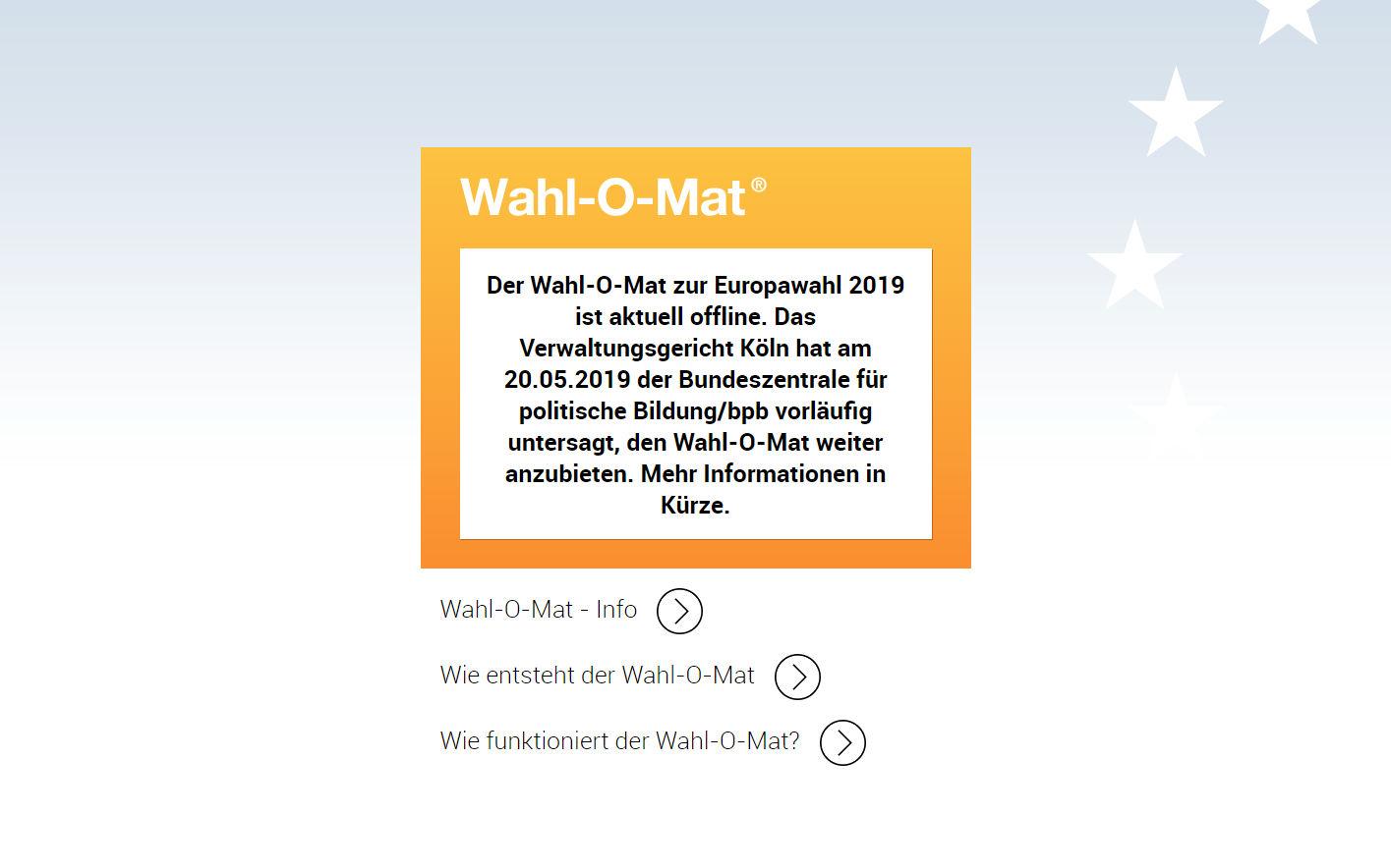 gericht verbietet wahl o mat vor europawahl.