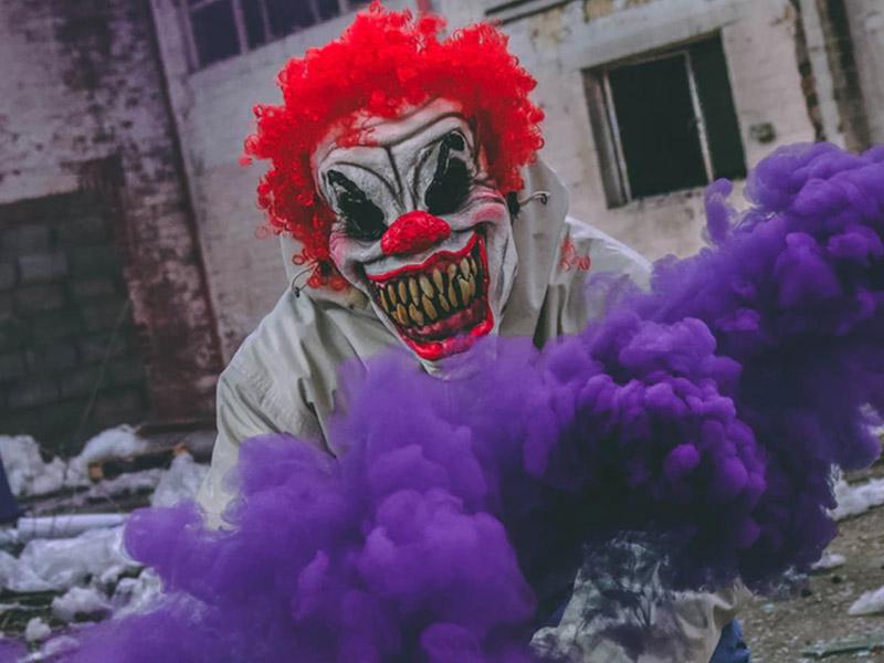 Horror Clown an Halloween