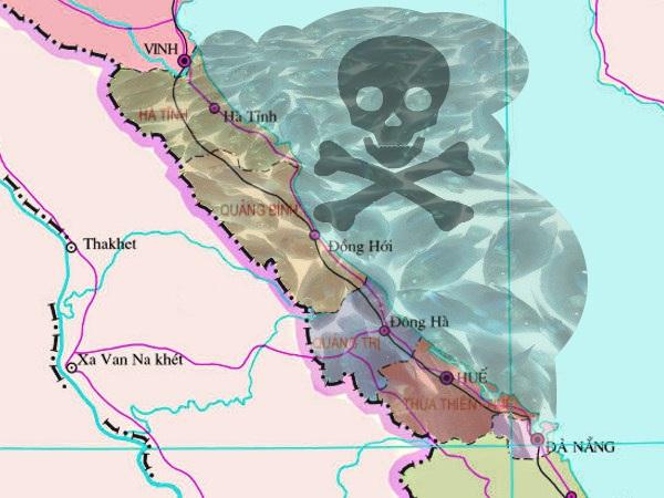 die 5 von der Umweltkatastrophe in Vietnam am meisten betroffenen Provinzen und Küstenregionen